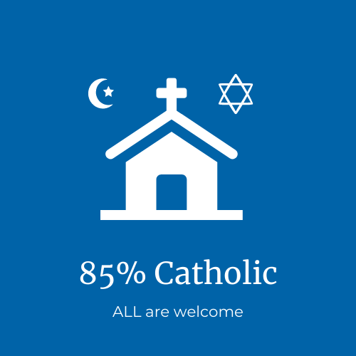 85% of families are Catholic; ALL are welcome