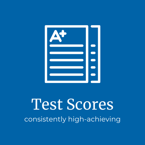 Consistently high test scores